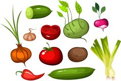 Vegetable set Royalty Free Stock Photography