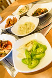 Vegetable set of korean food Stock Photo