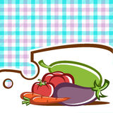 Vegetable set. Preparation of vegetable dishes in the vector Royalty Free Stock Photography