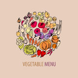 Vegetable set sketch Royalty Free Stock Photography