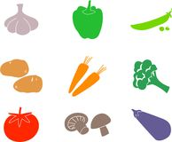 Vegetable shapes Stock Photos