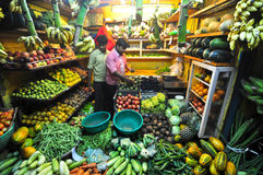 Vegetable shop. A shop selling vegetables in India Royalty Free Stock Photos