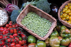 Vegetable shop counter Royalty Free Stock Images