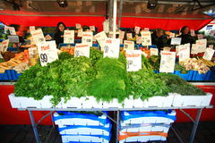 Vegetable shop at Grote Market in Groningen Stock Photos