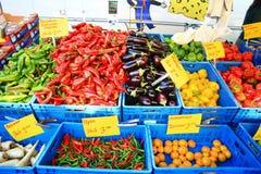 Vegetable shop at Grote Market in Groningen Stock Image