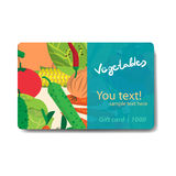 Vegetable shop. Sale discount gift card. Branding design Royalty Free Stock Photography