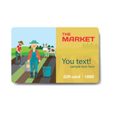 Vegetable shop. Sale discount gift card. Branding design Stock Photography