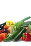 Vegetable shopping Stock Images