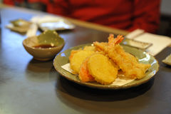 Vegetable and shrimp tempura Stock Image