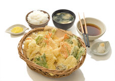 Vegetable & Shrimp Tempura Set Stock Image