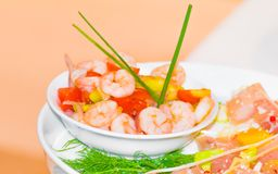 Vegetable with shrimp and tomato Royalty Free Stock Photography