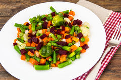 Vegetable side dish with beets. Studio Photo stock photos