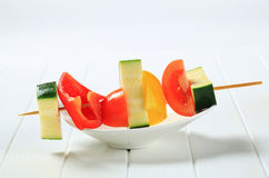 Vegetable skewer Royalty Free Stock Image