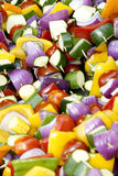Vegetable Skewers Royalty Free Stock Image