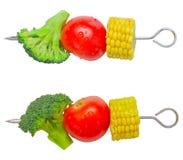 Vegetable skewers Stock Images