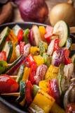 Vegetable skewers. Stock Image