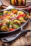 Vegetable skewers. Stock Photography