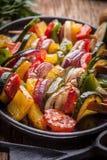 Vegetable skewers. Stock Images