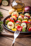 Vegetable skewers. Stock Photography