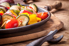 Vegetable skewers. Royalty Free Stock Photography