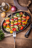 Vegetable skewers. Stock Photo