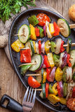 Vegetable skewers. Stock Photos