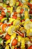 Vegetable skewers Stock Photo