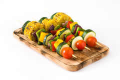 Vegetable skewers isolated Stock Image