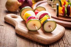 Vegetable skewers. Royalty Free Stock Images