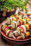 Vegetable skewers. Stock Photos