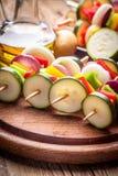 Vegetable skewers. Royalty Free Stock Photo