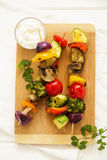 Vegetable Skewers (ratatouille) Stock Photos
