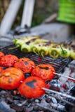 Vegetable Skewers Royalty Free Stock Images