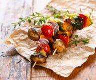 Vegetable skewers Royalty Free Stock Photo