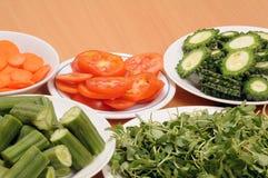 Vegetable slices stock photos