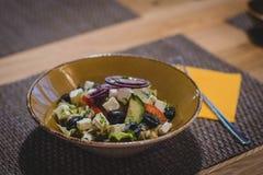 Vegetable Slices on Brown Ceramic Bowl Stock Photo