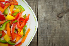 Vegetable slices Stock Images