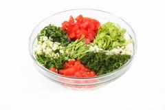 Vegetable slicing set dressing Royalty Free Stock Images