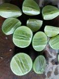 Lemon. Slide green lemon, ingrediant Thaifood Stock Photography