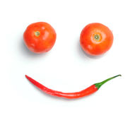 Vegetable smile Royalty Free Stock Photo