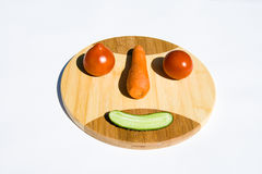 Vegetable smiley Stock Images
