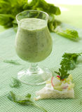 Vegetable  smoothie Stock Photos