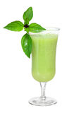 Vegetable Smoothie. Green vegetable smoothie with basil Royalty Free Stock Image