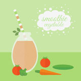 Vegetable smoothie in jar on a table Stock Image