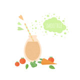 Vegetable smoothie in jar on a table Royalty Free Stock Photography