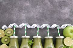 Vegetable smoothies stock photography