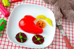 Vegetable snack for kids Royalty Free Stock Images