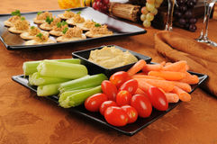 Vegetable snack plate Royalty Free Stock Image