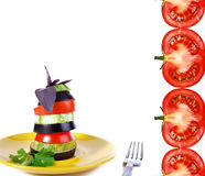 Vegetable snack with tomato Royalty Free Stock Photo