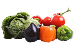 Vegetable. Some vegetables isolated on white background royalty free stock photos